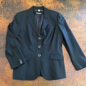 Anne Klein Black Women's Wool Blazer